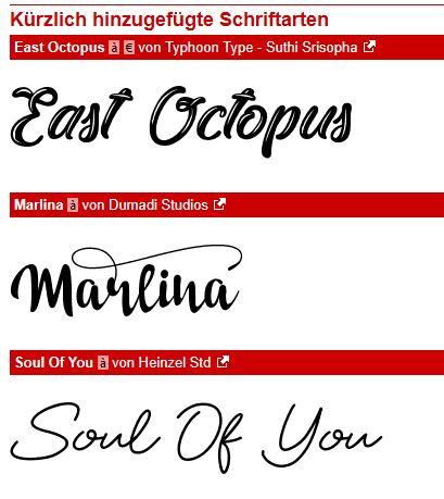 Dafont - Schriftart wählen